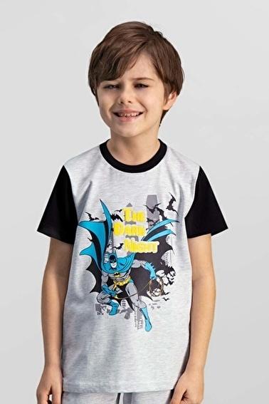 Batman Batman Lisanslı Turkuaz Erkek Çocuk T-Shirt Gri